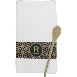 Moroccan Mosaic & Plaid Kitchen Towel (Personalized)