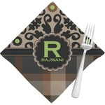 Moroccan Mosaic & Plaid Napkins (Set of 4) (Personalized)