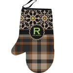 Moroccan Mosaic & Plaid Left Oven Mitt (Personalized)