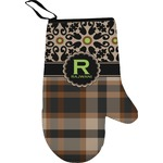 Moroccan Mosaic & Plaid Right Oven Mitt (Personalized)