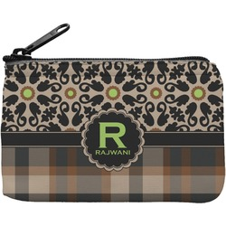 Moroccan Mosaic & Plaid Rectangular Coin Purse (Personalized)