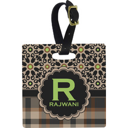 Moroccan Mosaic & Plaid Luggage Tags (Personalized)