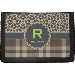 Moroccan Mosaic & Plaid Trifold Wallet (Personalized)