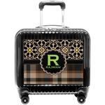 Moroccan Mosaic & Plaid Pilot / Flight Suitcase (Personalized)