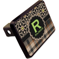 """Moroccan Mosaic & Plaid Rectangular Trailer Hitch Cover - 2"""" (Personalized)"""