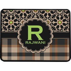 Moroccan Mosaic & Plaid Rectangular Trailer Hitch Cover (Personalized)