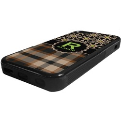Moroccan Mosaic & Plaid Rubber iPhone 5C Phone Case (Personalized)