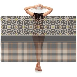 Moroccan Mosaic & Plaid Sheer Sarong (Personalized)