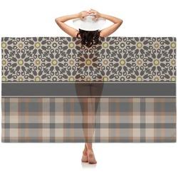 Moroccan Mosaic & Plaid Sheer Sarong (Personalized)