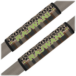 Moroccan Mosaic & Plaid Seat Belt Covers (Set of 2) (Personalized)