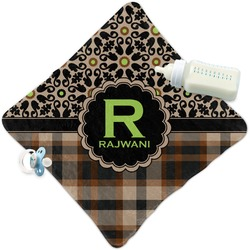 Moroccan Mosaic & Plaid Security Blanket (Personalized)