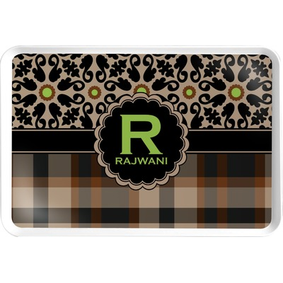 Moroccan Mosaic & Plaid Serving Tray (Personalized)