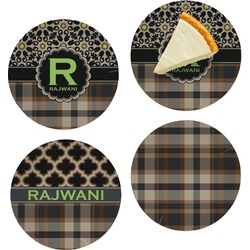 Moroccan Mosaic & Plaid Set of Appetizer / Dessert Plates (Personalized)
