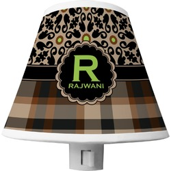 Moroccan Mosaic & Plaid Shade Night Light (Personalized)
