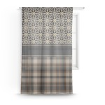 Moroccan Mosaic & Plaid Sheer Curtains (Personalized)