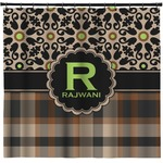 Moroccan Mosaic & Plaid Shower Curtain (Personalized)