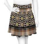 Moroccan Mosaic & Plaid Skater Skirt (Personalized)