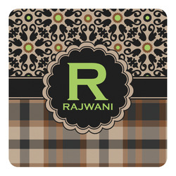 Moroccan Mosaic & Plaid Square Decal - Custom Size (Personalized)