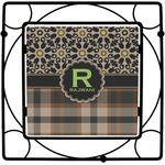 Moroccan Mosaic & Plaid Square Trivet (Personalized)