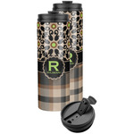 Moroccan Mosaic & Plaid Stainless Steel Skinny Tumbler (Personalized)