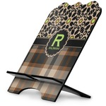 Moroccan Mosaic & Plaid Stylized Tablet Stand (Personalized)