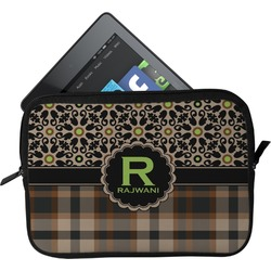 Moroccan Mosaic & Plaid Tablet Case / Sleeve (Personalized)