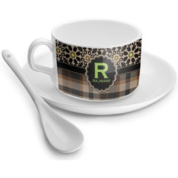 Moroccan Mosaic & Plaid Tea Cup - Single (Personalized)
