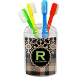 Moroccan Mosaic & Plaid Toothbrush Holder (Personalized)