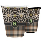 Moroccan Mosaic & Plaid Waste Basket (Personalized)