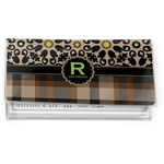 Moroccan Mosaic & Plaid Vinyl Checkbook Cover (Personalized)