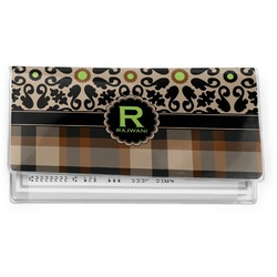 Moroccan Mosaic & Plaid Vinyl Check Book Cover (Personalized)