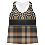 Moroccan Mosaic & Plaid Womens Racerback Tank Top (Personalized)