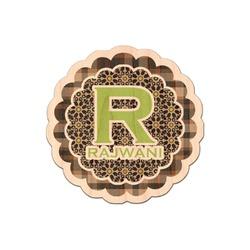 Moroccan Mosaic & Plaid Genuine Wood Sticker (Personalized)