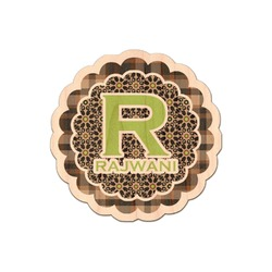 Moroccan Mosaic & Plaid Genuine Wood Sticker (Personalized)