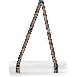 Moroccan Mosaic & Plaid Yoga Mat Strap (Personalized)