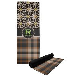 Moroccan Mosaic & Plaid Yoga Mat (Personalized)
