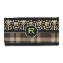 Moroccan Mosaic & Plaid Leatherette Ladies Wallet (Personalized)
