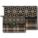 Moroccan Mosaic & Plaid Zipper Pouch (Personalized)