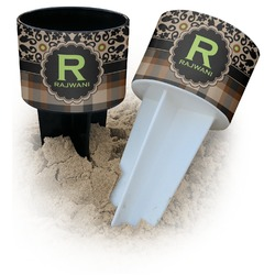Moroccan Mosaic & Plaid Beach Spiker Drink Holder (Personalized)