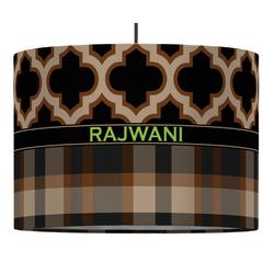 Moroccan & Plaid Drum Pendant Lamp (Personalized)