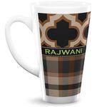 Moroccan & Plaid 16 Oz Latte Mug (Personalized)