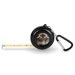 Moroccan & Plaid Pocket Tape Measure - 6 Ft w/ Carabiner Clip (Personalized)