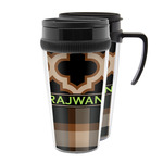 Moroccan & Plaid Acrylic Travel Mugs (Personalized)
