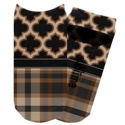 Moroccan & Plaid Adult Ankle Socks (Personalized)