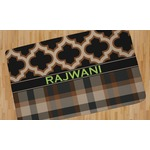 Moroccan & Plaid Area Rug (Personalized)