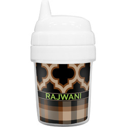 Moroccan & Plaid Baby Sippy Cup (Personalized)