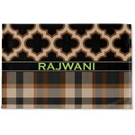 Moroccan & Plaid Woven Mat (Personalized)
