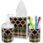 Moroccan & Plaid Bathroom Accessories Set (Personalized)