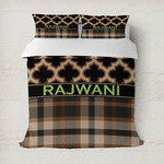 Moroccan & Plaid Duvet Cover (Personalized)