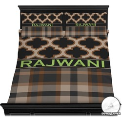Moroccan & Plaid Duvet Cover Set (Personalized)